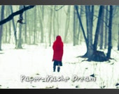 Red Riding Hood, Once Upon A Time,Fairytale Dream Come True, Abstract Art 8.5x11 Original Photograph By Paper-Mâché Dream Photography, fPOE