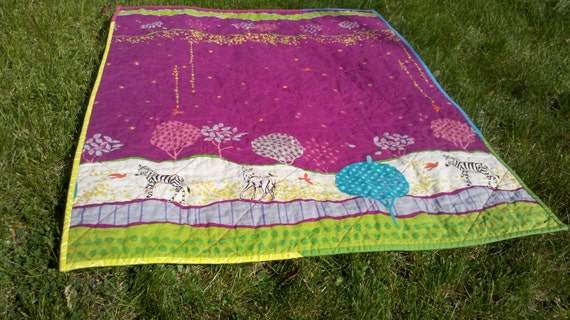 Reserved for Robyn - Savannah Quilt - whole cloth quilt for baby girl