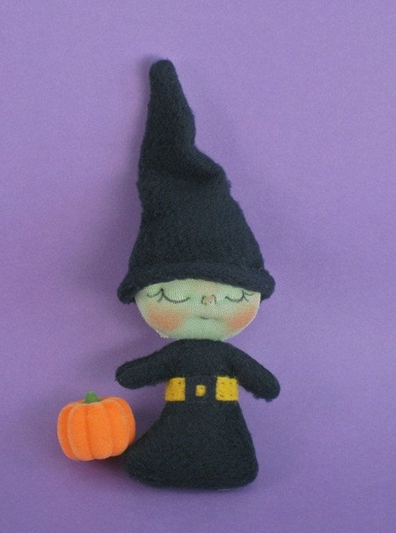 50% off Sale Miniature Plush Witch Doll by BEBE BABIES