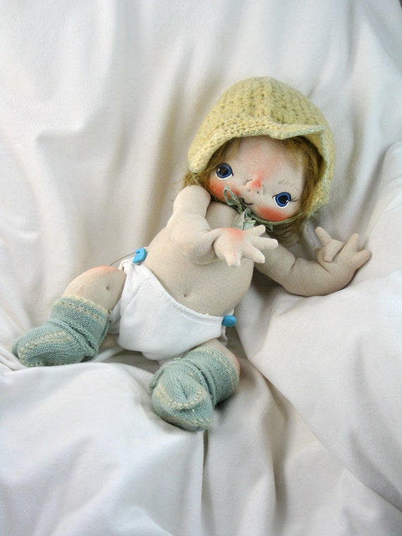William a One of a Kind Cloth Baby Doll by BEBE BABIES