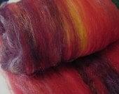 Art batt SALE 4 oz. merino wool firestar CHERRY LIQUOR