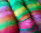 Art batt 4 oz. merino blend sari silk hand dyed SHEPHERD GIRL