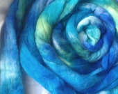 Roving SALE buy 3 get 1 free 4 oz. Blue Spruce  hand dyed wool