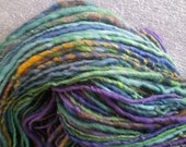 Art yarn handspun SALE buy 3 get 1 free 6.7 oz. Marina hand dyed wool firestar
