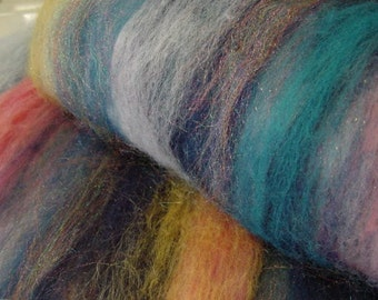 Art Batt SALE buy 3 get 1 free 4 oz. merino blend firestar hand dyed CITY LIGHTS