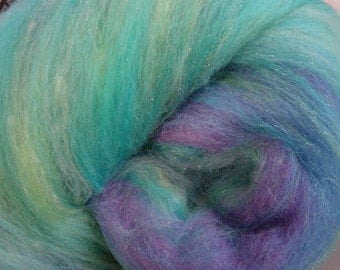 Art batt SALE buy 3 get 1 free 4 oz. MERMAID merino wool firestar blend hand dyed