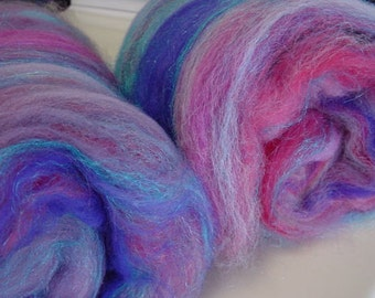 Art batt SALE Purple Rain 4 oz. merino wools firestar hand dyed