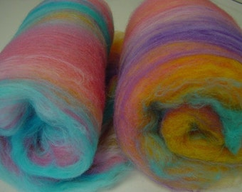 Art batt SALE buy 3 get 1 free 4 oz. merino hand dyed PLAYING CUPIDS