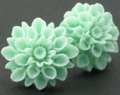 FREE SHIPPING Dahlias - Cool Mint - Surgical Steel Posts
