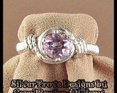 Light Amethyst Ring Sterling Silver Any Size Wire Wrapped 0.7 Carat Solitaire February Birthstone