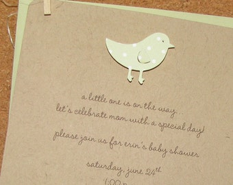 baby chick baby shower invitation