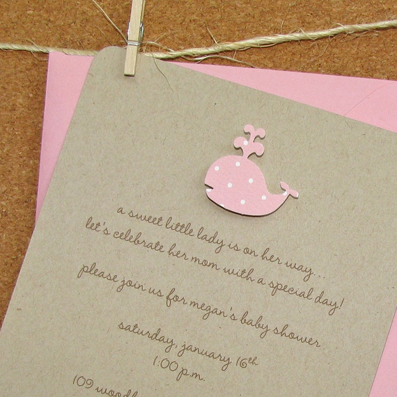 Whale Custom Baby Shower Invitation