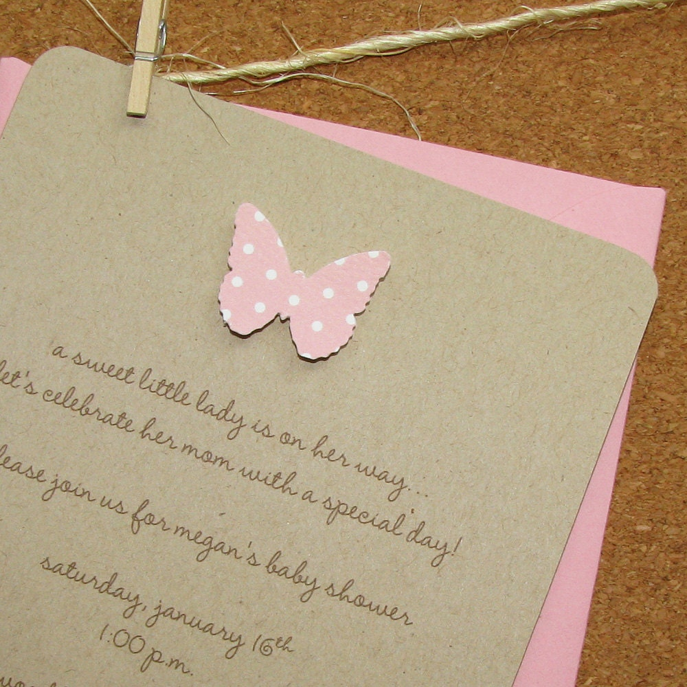 Baby Shower Invitation Butterfly