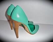 Turquoise Stiletto Heels