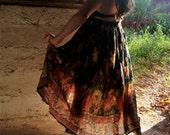 Cyber Monday Sale - Sheer Floral Skirt - Boho Fashion