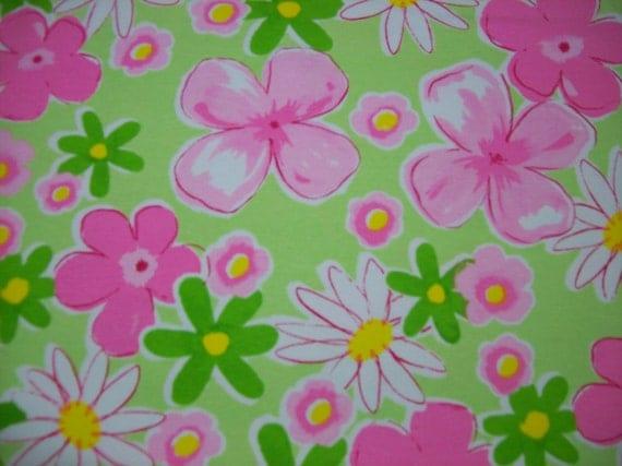 Floral Cotton Lycra Knit Fabric