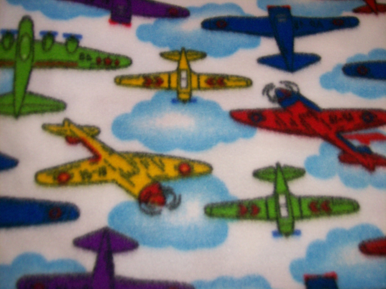 Airplanes fleece fabric for Airplane fabric by the yard