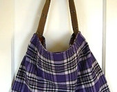 upcycled large tartan bag - RESERVED FOR elizabethio