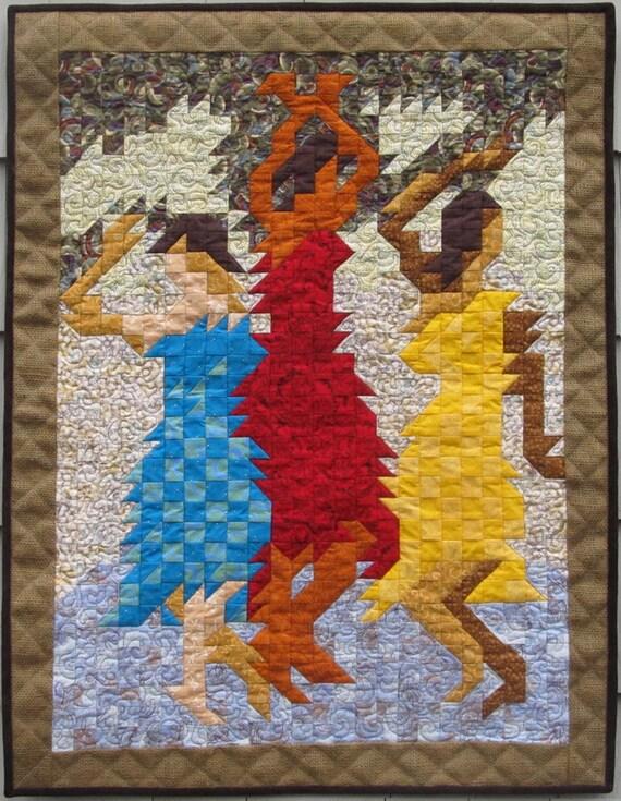 Items Similar To Art Quilt Samba Dance Mosaic Textile Art