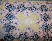 Vintage Quilt 16X15 inches Piece Perfect for pillow or your artwork Vintage fabric and feedsack