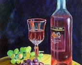 Summer Wine Giclee Fine Art Print  Somerset Velvet Paper