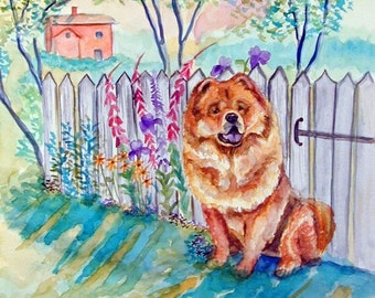 Chow Chow Dog Giclee Fine Art Print