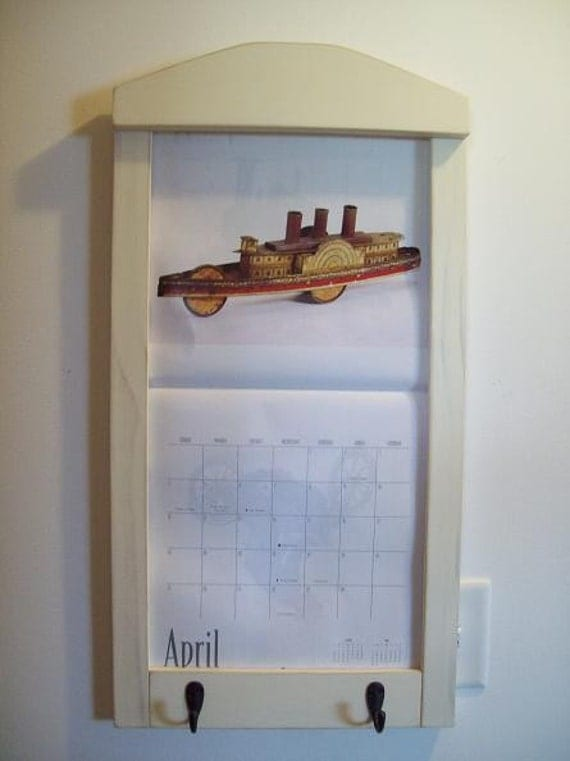 Calendar Wood Holder : Items similar to wood framed perpetual calendar holder on etsy