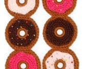 Frosted Donuts SCARF Chocolate Brown Strawberry Pink White Frosting Made To Order