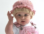 SALE - 3-6 month 6-12 month or 4 year plus sizes - Pink Cupcake Hat - by Knittin Mama