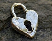 Heart with Key Hole  in Sterling Silver