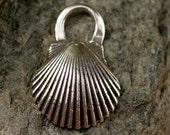Scallop Sea Shell in Sterling Silver