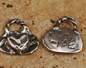 Artisan Life HEART Charm  in Sterling Silver -29s
