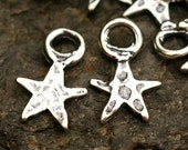 TWO Tiny Stars in Sterling Silver