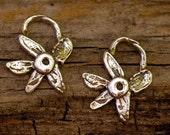 Two Jasmine Flower Charms in Sterling Silver -CH12