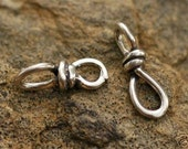 Two Twisted Links in Sterling Silver