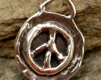 Artisan Sterling Silver Peace Charm