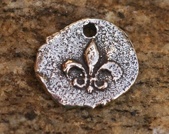 One FLEUR de Lis Too  Charm in Sterling Silver