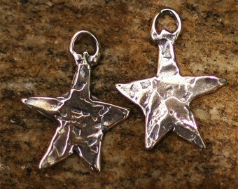 Two Star Charms in Sterling Silver 139s