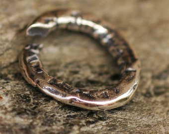 Rustic Thick Textured Jump Ring Links in Sterling Silver JR-165