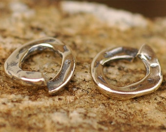 TWO Thick Small Jump Ring Links in Sterling Silver, JR-167