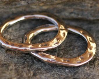 Two Oval LINKS in Sterling Silver,  180s