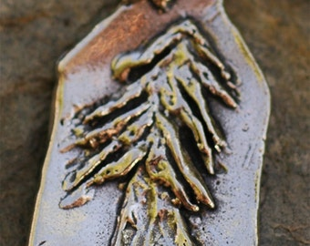 Artisan Handcrafted Redwood Tree Pendant in Sterling Silver