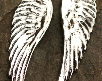 Artisan Angel Wing Pendant in Sterling Silver -210s