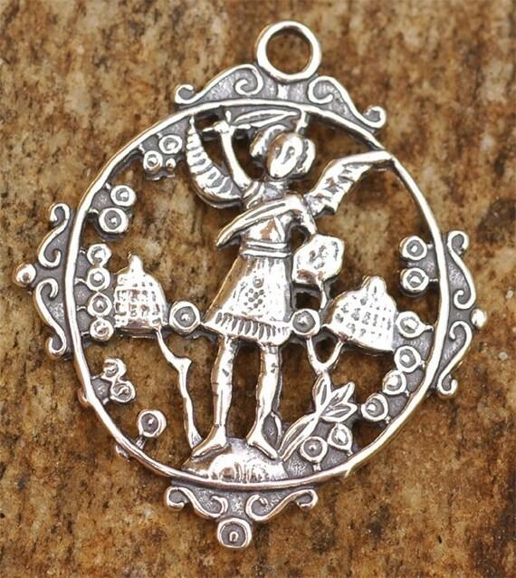 Archangel Michael Pendant  in Sterling Silver, AR110