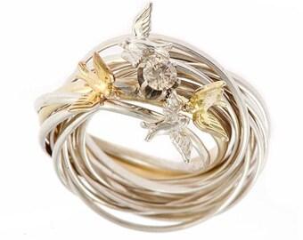 Diamond Engagement Nest Ring
