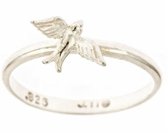 Mini Swallow Sterling Silver Ring