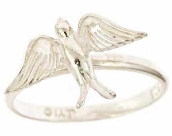 Medium Swallow Sterling Silver Ring