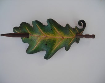 White Oak hair barrette