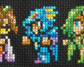 Final Fantasy IV 4 Completed Cross Stitch