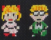 Earthbound Completed Cross Stitch